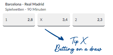 Betting on a draw